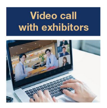 Video call with exhibitors